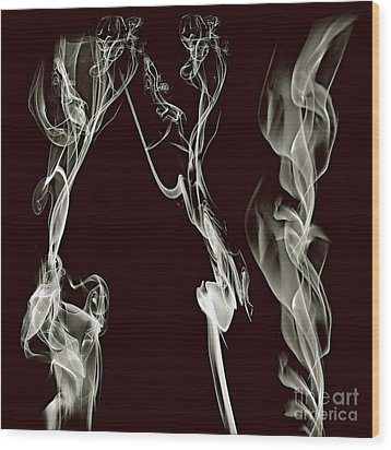 Dancing Apparitions Wood Print