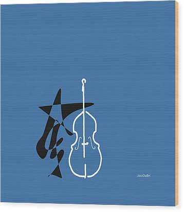 Dancing Bass In Blue Wood Print by David Bridburg