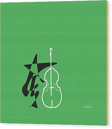 Dancing Bass In Green Wood Print by David Bridburg