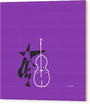 Dancing Bass In Purple Wood Print by David Bridburg