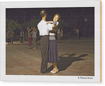 Dancing Couple Wood Print by R Thomas Berner