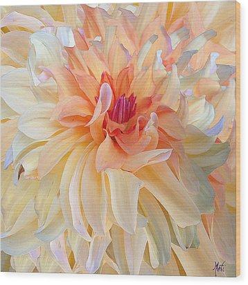 Dancing Dahlia Wood Print by Michele Avanti