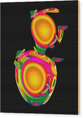 Dancing Egg Ant Wood Print by Jacqueline Migell
