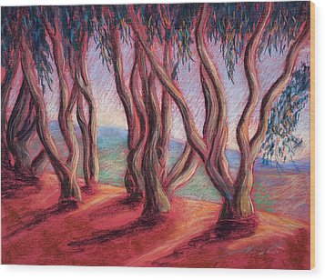 Dancing Eucalyptus Wood Print by Karin  Leonard