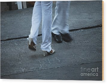 Dancing Feet At The Dominican Republic Son Party Number One Wood Print