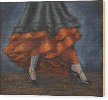 Dancing Feet Wood Print by Quwatha Valentine