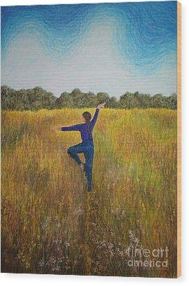Dancing Field Wood Print