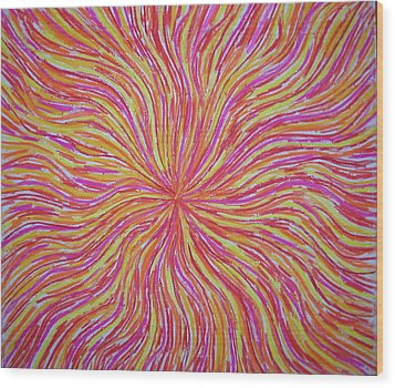 Dancing Fire No.2 Wood Print by Gregory Young