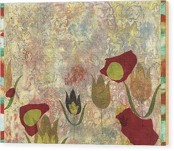 Dancing Flowers Wood Print by Gloria Von Sperling