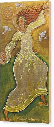 Dancing Her Prayers Wood Print by Shiloh Sophia McCloud