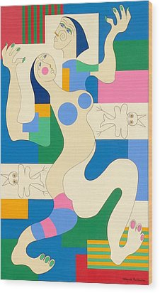 Dancing Wood Print by Hildegarde Handsaeme