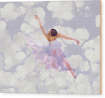 Dancing In The Clouds Wood Print by Steve K