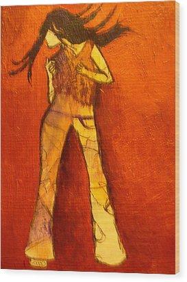 Dancing In The Club Wood Print by L Visser