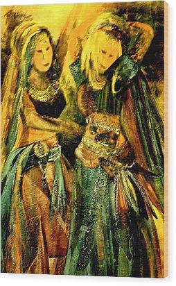 Dancing In The Harem Wood Print