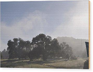 Dancing Mist Wood Print