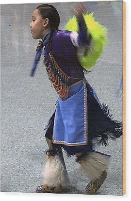 Dancing Native Child Wood Print