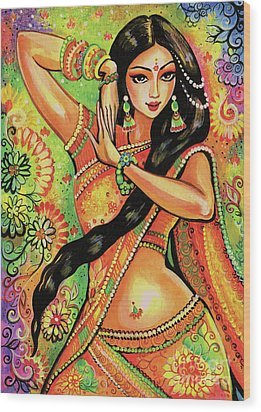Wood Print featuring the painting Dancing Nithya by Eva Campbell