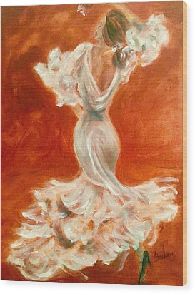 Dancing Senorita Wood Print