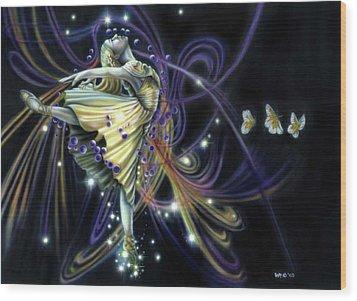 Dancing Stars Wood Print
