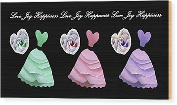 Dancing The Love Dance - Love Joy Happiness - No. 2 Wood Print by Jacqueline Migell