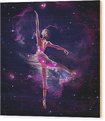Dancing The Universe Into Being 2 Wood Print by Jane Schnetlage