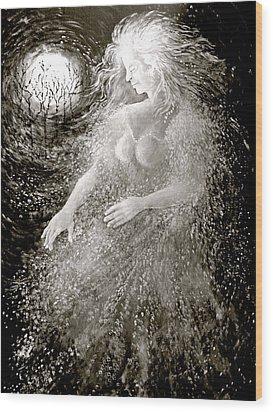 Dancing Through The Darkness Wood Print