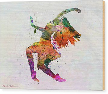 Dancing To The Night  Wood Print by Mark Ashkenazi