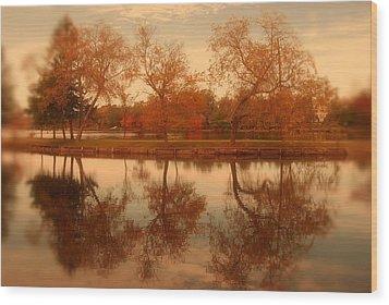Dancing Trees - Lake Carasaljo Wood Print