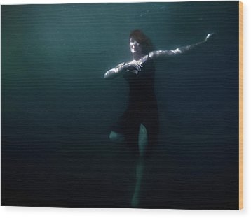 Wood Print featuring the photograph Dancing Under The Water by Nicklas Gustafsson