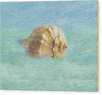 Wood Print featuring the photograph Dancing With The Sea by Betty LaRue