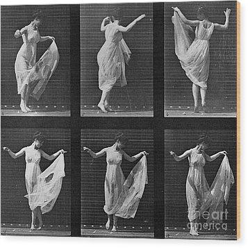 Dancing Woman Wood Print by Eadweard Muybridge