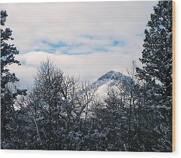Dancing Woman Mountain In The Winter Wood Print