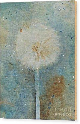 Dandelion Clock 2 Wood Print