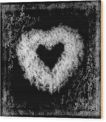 Dandelion Love Wood Print by Tamyra Ayles