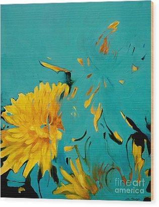 Dandelion Summer Wood Print