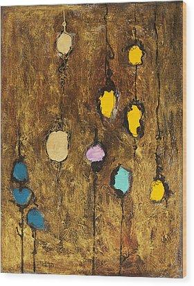 Dangling Blossoms Wood Print by Tara Thelen