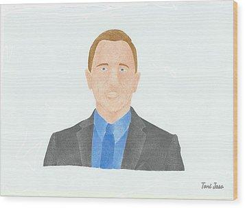 Daniel Craig Wood Print