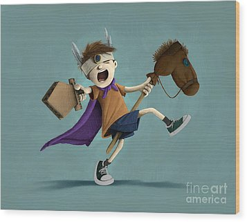 Daniel The Brave Wood Print by Michael Ciccotello