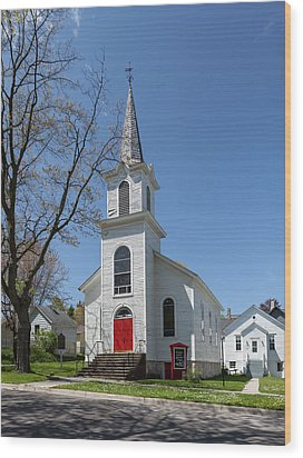 Wood Print featuring the photograph Danish Lutheran Church by Fran Riley
