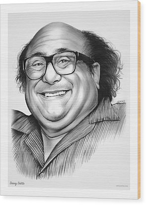 Danny Devito Wood Print by Greg Joens