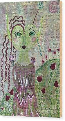 Wood Print featuring the painting Daphne by Julie Engelhardt