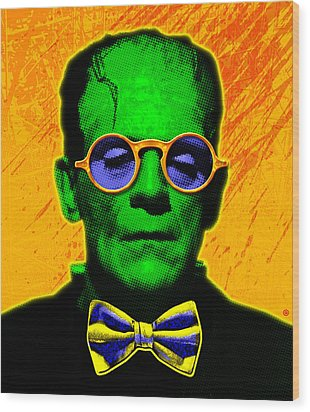 Dapper Monster Wood Print by Gary Grayson