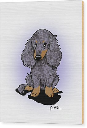 Dapple Doxie Wood Print by Kim Niles