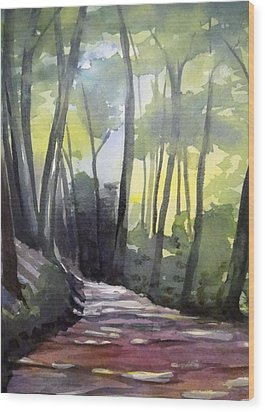 Dappled Dirt Road Wood Print