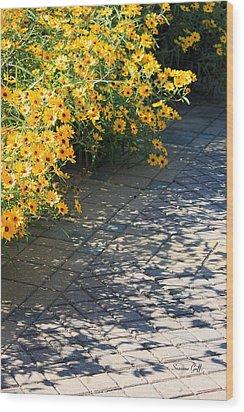 Dappled Light II Wood Print by Suzanne Gaff