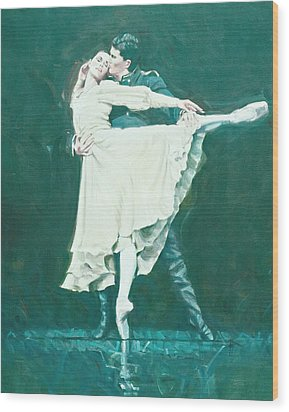 Darcey Bussell Farewell Winter Dreams Wood Print by Charles Willmott