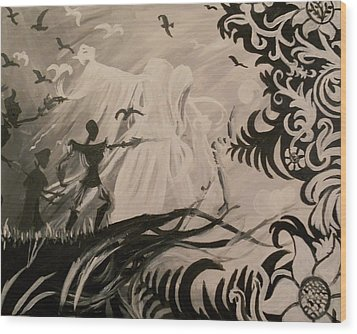 Dark And Light Wood Print by Lisa Leeman