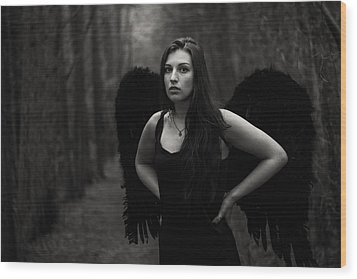 Wood Print featuring the photograph Dark Angel by Brian Hughes