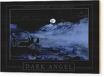 Dark Angel Wood Print by Todd Krasovetz