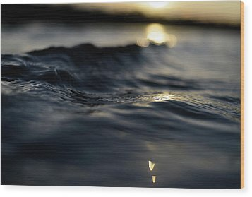 Wood Print featuring the photograph Dark Atlantic Traces by Laura Fasulo